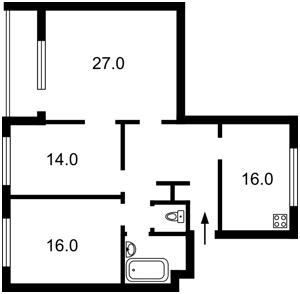 Квартира Грушевского Михаила, 34а, Киев, H-37988 - Фото2