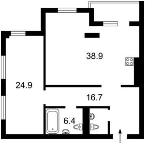 Квартира Саксаганского, 70а, Киев, X-35390 - Фото2