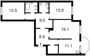 Квартира Дегтяревская, 25а, Киев, Z-850388 - Фото2