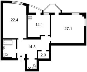 Квартира Львовская, 22, Киев, X-35841 - Фото2