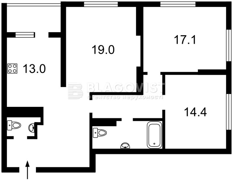 Квартира Z-1722331, Хоткевича Гната (Красногвардейская), 8, Киев - Фото 4