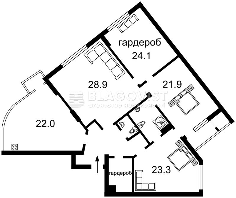 Квартира C-102915, Драгомирова Михаила, 16, Киев - Фото 6