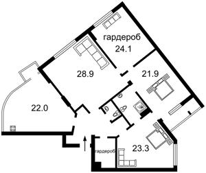 Квартира Драгомирова Михаила, 16, Киев, C-102915 - Фото2