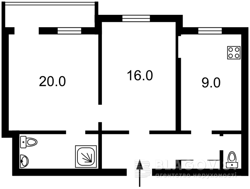 Квартира C-103021, Деловая (Димитрова), 13, Киев - Фото 3