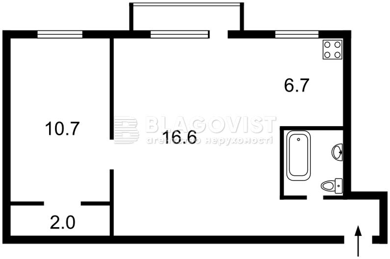 Квартира X-36053, Победы просп., 2, Киев - Фото 2