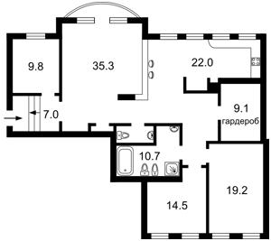 Квартира Волошская, 50/38, Киев, X-36194 - Фото2