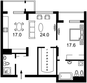 Квартира Драгомирова, 20, Київ, Z-1894745 - Фото2