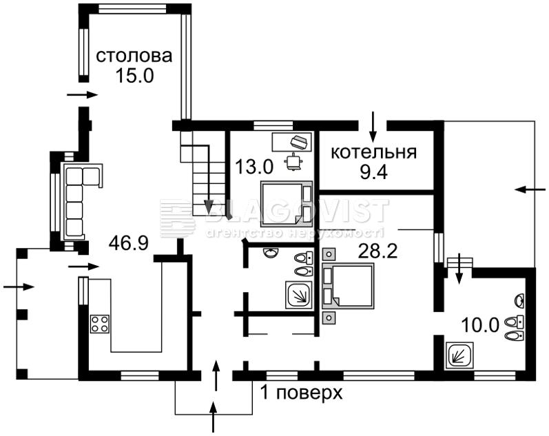 Дом A-106554, Центральная, Лесники (Киево-Святошинский) - Фото 4