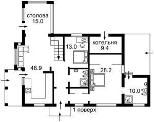 Дом Центральная, Лесники (Киево-Святошинский), A-106554 - Фото1