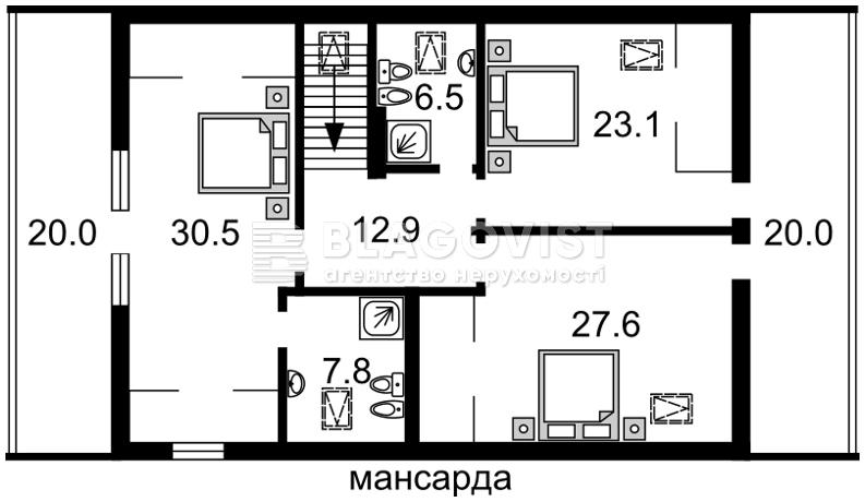 Дом A-106554, Центральная, Лесники (Киево-Святошинский) - Фото 5