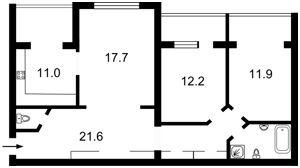 Квартира Героев Сталинграда просп., 20а, Киев, F-36633 - Фото2