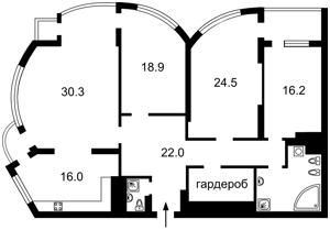 Квартира Механизаторов, 2а, Киев, Z-225361 - Фото2