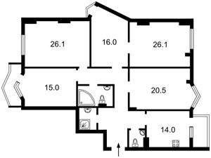 Квартира Липківського Василя (Урицького), 18, Київ, Z-1886696 - Фото2