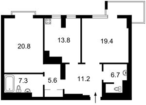 Квартира Коновальца Евгения (Щорса), 44а, Киев, Z-11901 - Фото2