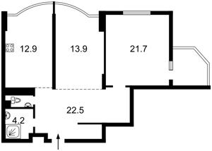 Квартира Науки просп., 69, Київ, D-31345 - Фото2