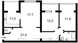 Квартира Героев Сталинграда просп., 20а, Киев, F-36724 - Фото2