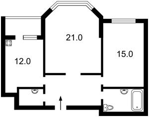 Квартира Гмыри Бориса, 8б, Киев, Z-1332119 - Фото2