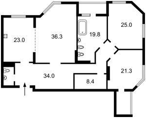 Квартира Краснова М., 19, Київ, Z-1869377 - Фото2