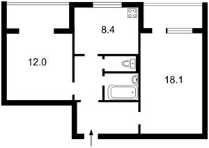 Квартира Драгоманова, 23а, Киев, B-81850 - Фото 2