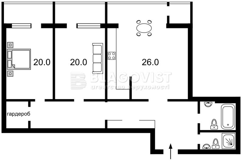 Квартира C-103309, Коновальца Евгения (Щорса), 44а, Киев - Фото 6