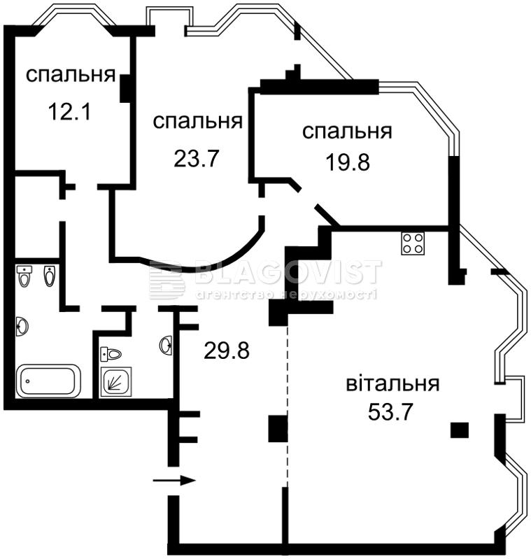Квартира R-1852, Кловский спуск, 5, Киев - Фото 3