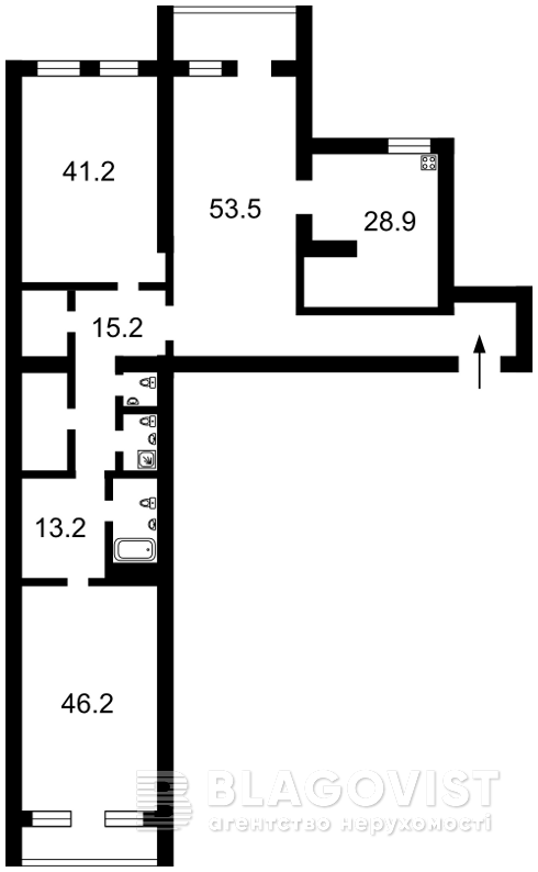 Квартира F-36854, Лобановского, 21 корпус 5, Чайки - Фото 3