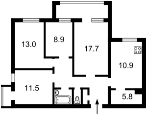 Квартира Тростянецкая, 47, Киев, Z-1611644 - Фото2