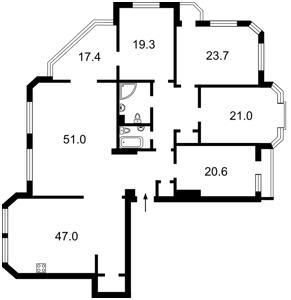 Квартира Коновальца Евгения (Щорса), 32а, Киев, X-33845 - Фото2