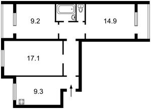 Квартира Озерна (Оболонь), 14, Київ, X-32848 - Фото2
