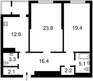 Квартира Красноткацкая, 43, Киев, C-103338 - Фото 2