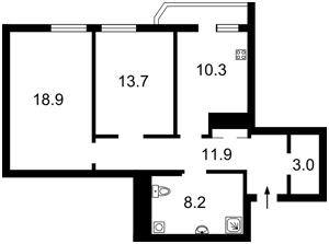 Квартира Коновальця Євгена (Щорса), 32б, Київ, R-3101 - Фото2