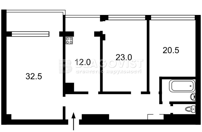 Квартира X-14074, Хмельницкого Богдана, 39, Киев - Фото 5
