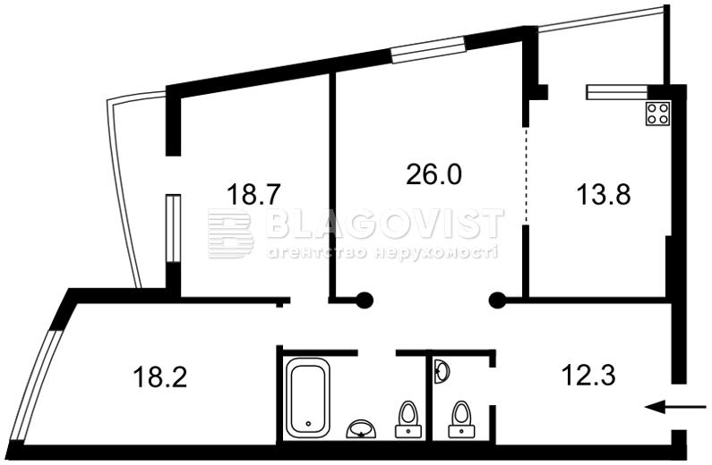 Квартира D-31852, Окипной Раиcы, 10а, Киев - Фото 5