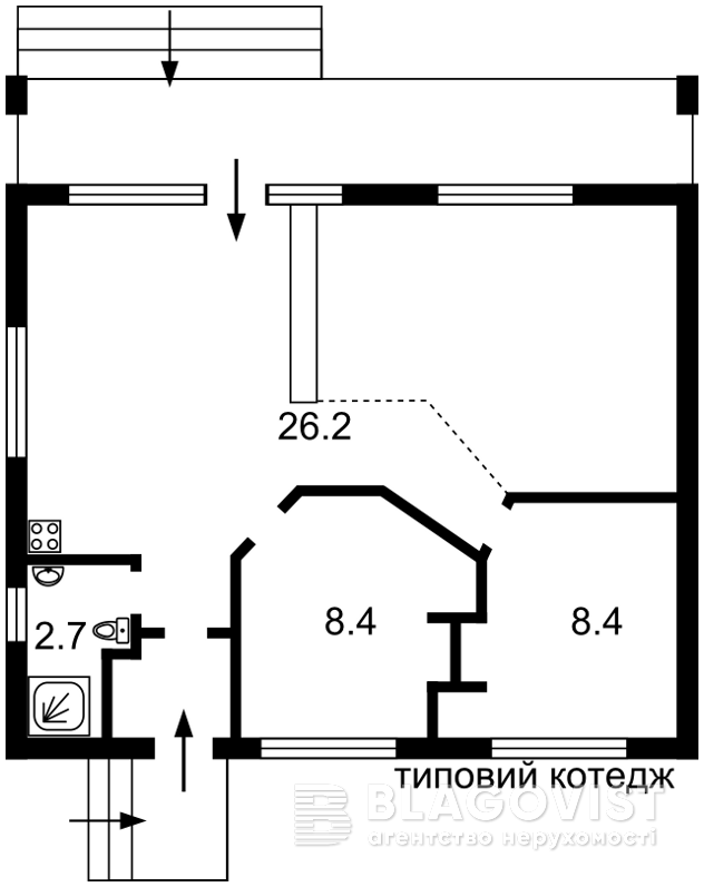 Дом F-37333, Зазимье - Фото 4