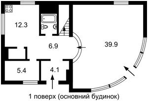 Будинок Зазим'я, F-37333 - Фото 1