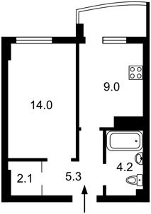 Квартира Жабаева Жамбила, 7д, Киев, Z-73012 - Фото2
