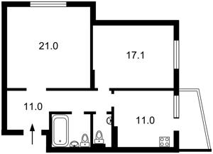 Квартира Сікорського Ігоря (Танкова), 4б, Київ, Z-75623 - Фото2