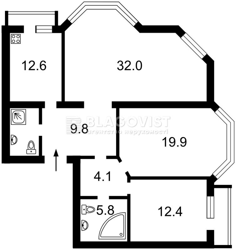 Квартира F-37453, Введенская, 29/58, Киев - Фото 4