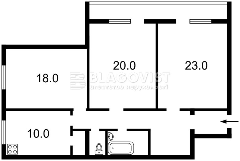 Квартира R-3918, Нестайко Всеволода (Мильчакова А.), 3, Киев - Фото 3