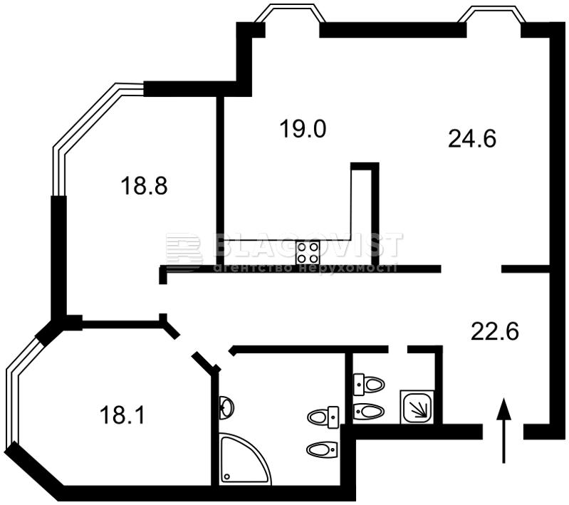 Квартира Z-1841672, Кловский спуск, 5, Киев - Фото 3