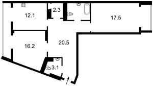 Квартира Коновальця Євгена (Щорса), 44а, Київ, X-31284 - Фото2