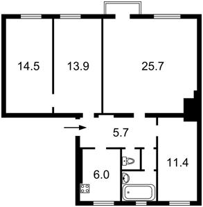 Квартира R-4344, Богомольца Академика, 2, Киев - Фото 4