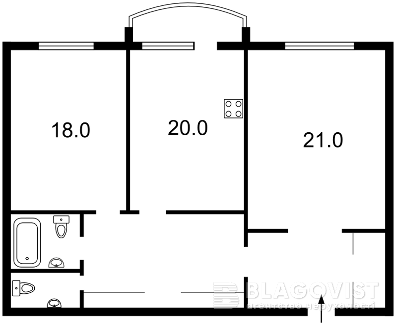 Квартира M-31260, Героїв Сталінграду просп., 8 корпус 3, Київ - Фото 5