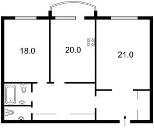 Квартира Героев Сталинграда просп., 8 корпус 3, Киев, M-31260 - Фото2