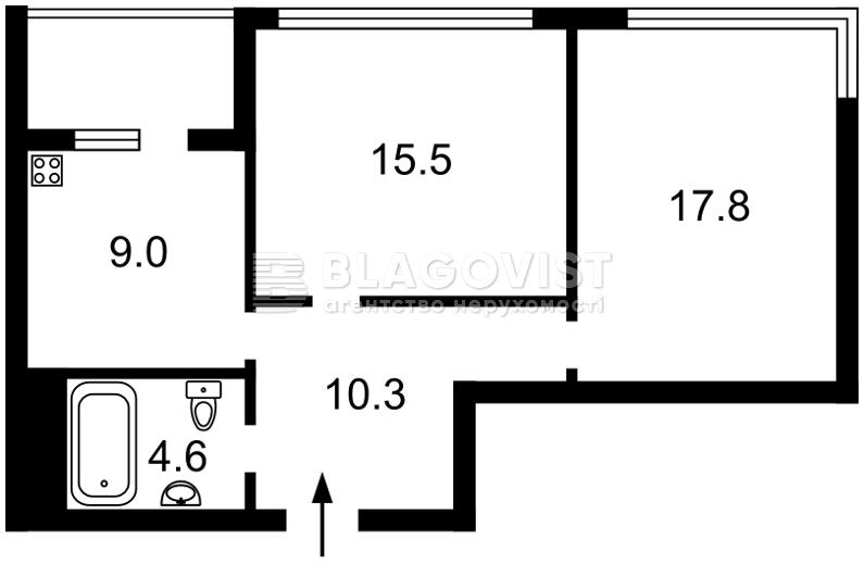 Квартира F-37634, Зарічна, 1б, Київ - Фото 9