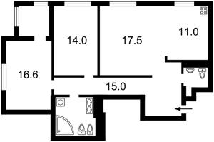 Квартира Вышгородская, 45а, Киев, F-37365 - Фото 2