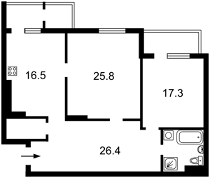 Квартира Туманяна Ованеса, 15а, Киев, Z-104794 - Фото 2