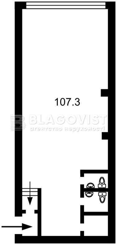Нежилое помещение, C-103810, Златоустовская, Киев - Фото 1