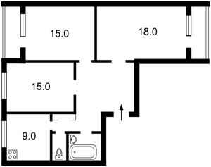 Квартира Заболотного Академіка, 98, Київ, Z-107858 - Фото2