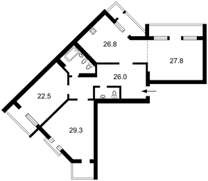 Квартира Коновальца Евгения (Щорса), 44а, Киев, H-39407 - Фото2